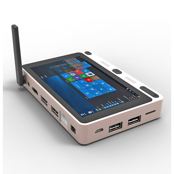 5 inch dual boot 4G+64G Wifi bluetooth Touch Screen Fanless Mini PC Embedded PC