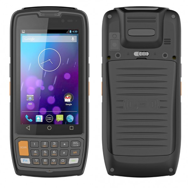 HiDON 4inch MT8735 HP402 Android PDA handhelds with 2D barcode NFC Docking scan trigger handheld PDA