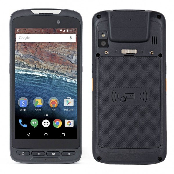 HiDON 5 inch MT8735 Android PDA handhelds with 2G+16G 2D barcode docking station Scan trigger PDA handhelds terminal