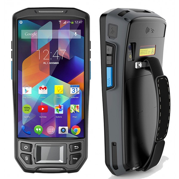 HiDON Cheapest 5 inch rugged PDA handhelds Android 2G+16G 4G Mobile Terminal with barcode RFID POS thermal printer PDA terminal
