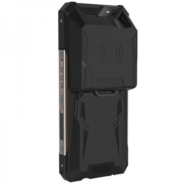 HiDON 6 inch Qcta-core Android mobile terminal with PSAM NFC fingerprint UHF RFID 2D barcode scanner rugged PDA handhelds