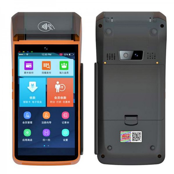 HiDON 5inch 4G LTE Android POS handheld with NFC POS Thermal printer PCI certificate POS handheld terminal