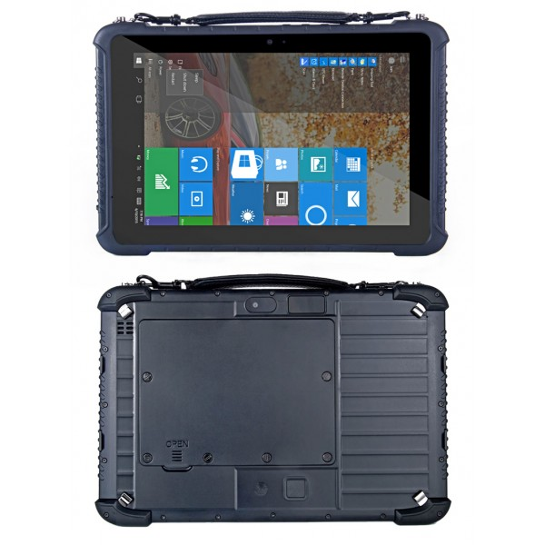 HiDON 10.1 inch Win10 HOME 4G+64G 4G LTE rugged tablets with NFC Barcode Fingerprint IP65 waterproof tablet pc