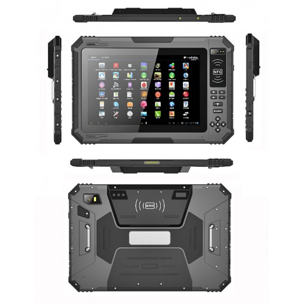 HiDON 10.1inch MT6735V Quad-core Android rugged tablets with 14600mAh UHF RFID NFC Barcode Fingerprint waterproof tablet