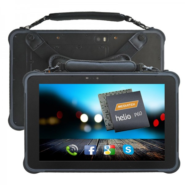 HiDON 10.1 inch IPS 1920*1200 Octa-core Android rugged tablet with RJ45 RS232 NFC Fingerprint 2D docking RFID industrial tablet