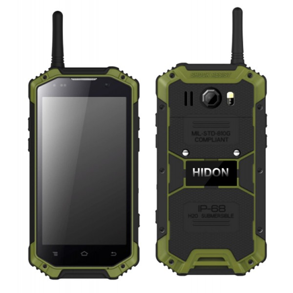 HiDON 4.7 inch Quad-core 3G+32G  Android rugged mobile phone with 4G LTE NFC PTT SOS waterproof phone