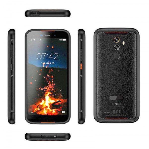 HiDON Factory 5.5 inch MTK6739 Quad-core Android 9.0 3G+16G rugged phone with 4G LTE Fingerprint NFC Face recognition rugged mobile phone IP68 waterproof phone