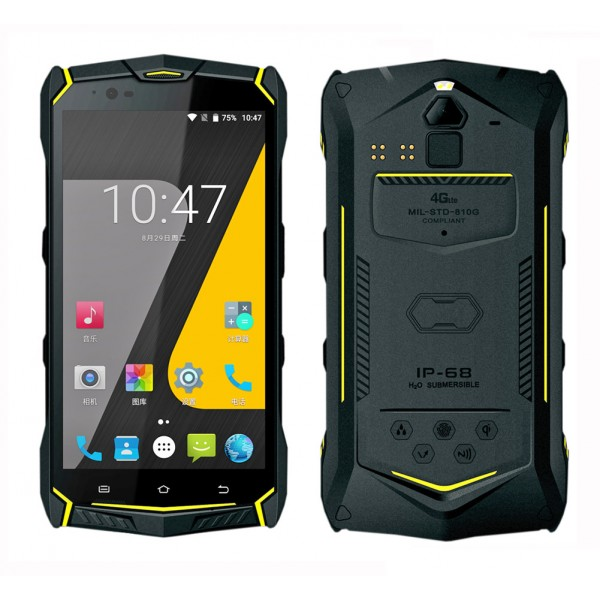 HiDON 5.5 inch Octa-core 4G LTE Android rugged phone with 4G+64G 6150mAh battery NFC IP68 waterproof mobile phone