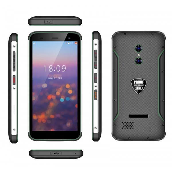 HiDON 5.7 inch MT6750 octa-core Android 7.1 rugged phone with 3G+32G PTT NFC SOS IP68 waterproof medical handheld terminal medical mobile phone