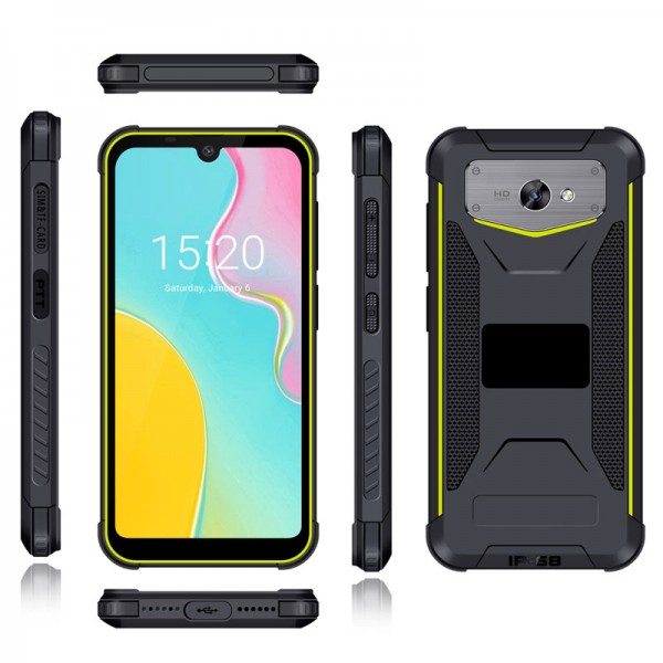HiDON 5.71 inch Android 9.0 3G+32G 4G LTE rugged phone with BT5.0 PTT IP68 waterproof mobile phone