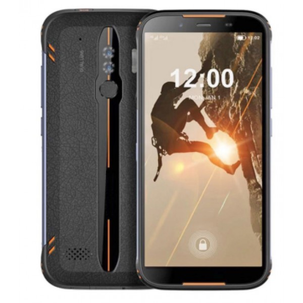 HiDON 5.5 inch Android 10.0 IP68 rugged mobile phone with Fingerprint NFC SOS wireless charge waterproof smartphone