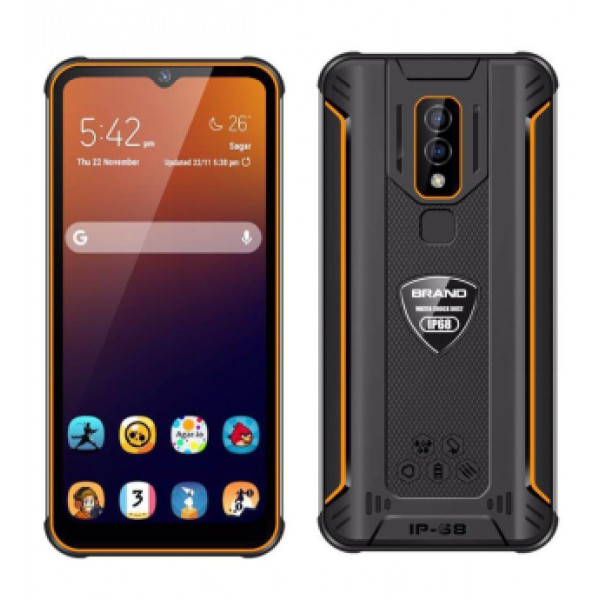 HiDON 6.08 inch Octa-core Android 8.1 rugged phone with 4G+128G PTT NFC SOS waterproof phone