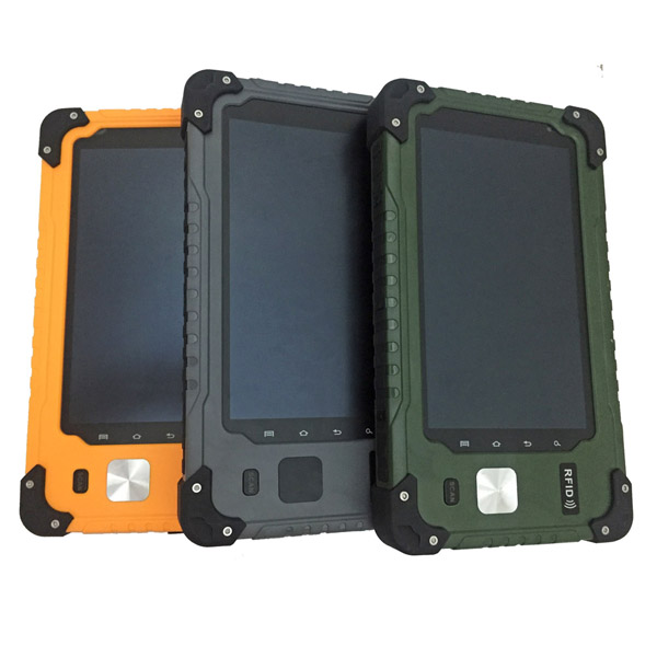 7 inch 1000nits readable 4GLTE UHF RFID Fingerprint scanner NFC Rugged Tablet