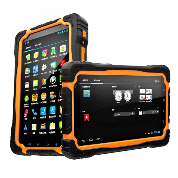 HiDON 7 inch 1000nits 4G Android rugged tablet with 4G+64G 9650mAh battery IP67 waterproof tablet pc
