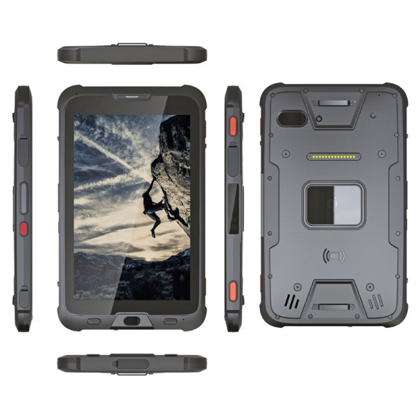 HiDON 8 inch Android rugged tablet with 4G+64G+4G LTE NFC barcode UHF RFID rugged waterproof tablet