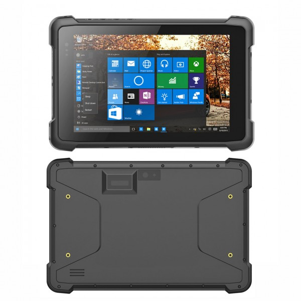 Highton 8 inch Intel Z8350 Win10 rugged tablet with 4G LTE, 3G+GPS+Pogo-pin, NFC Barcode scanner Windows waterproof tablet