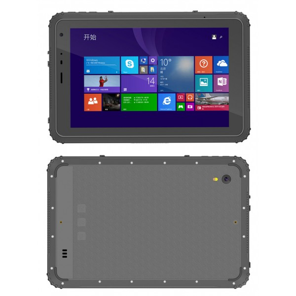Highton 8 inch Intel Z8350 2G+32G 3G/4G LTE Windows rugged tablets with IP67 Win10 Home NFC waterproof tablet