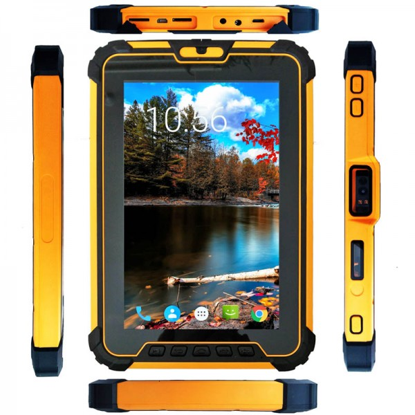 HiDON Rugged tablet Waterproof IP67 Dustproof Shockproof 4G 8 inch 4GB 64GB Android 7.1 with NFC Fingerprint barcode scanner Tablet PC