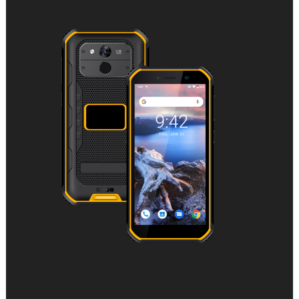 HiDON 5.5 inch Android 10.0 3G+32G+4G LTE rugged phone with NFC Fingerprint IP68 waterproof mobile phone