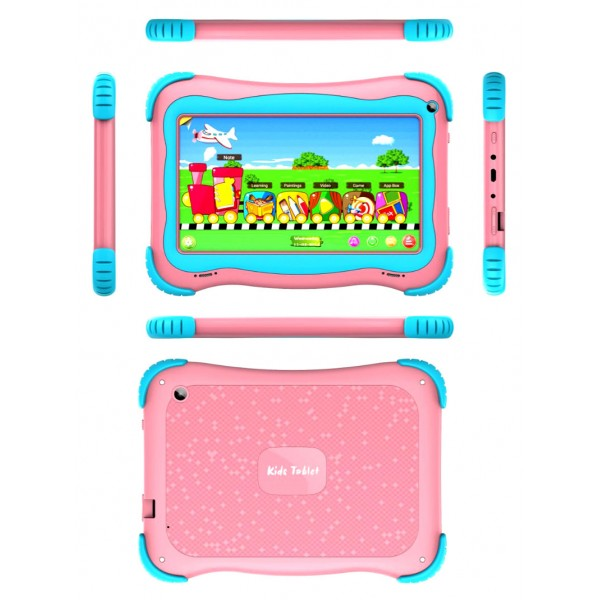 Factory 7 inch Android 10.0 Educational Tablet with Allwinner A100 64 bits Quad-core children tablet for child