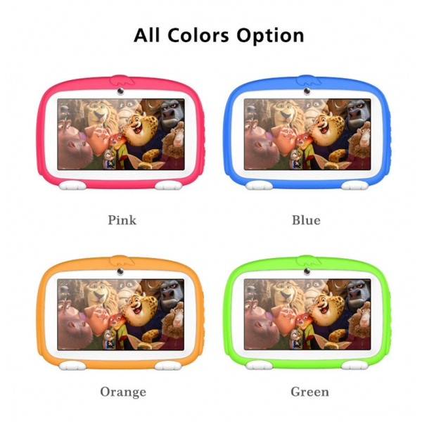 Factory 7 inch Android 9.0 Educational Tablet with Allwinner A50 32 bits Quad-core multiple color children tablet for child