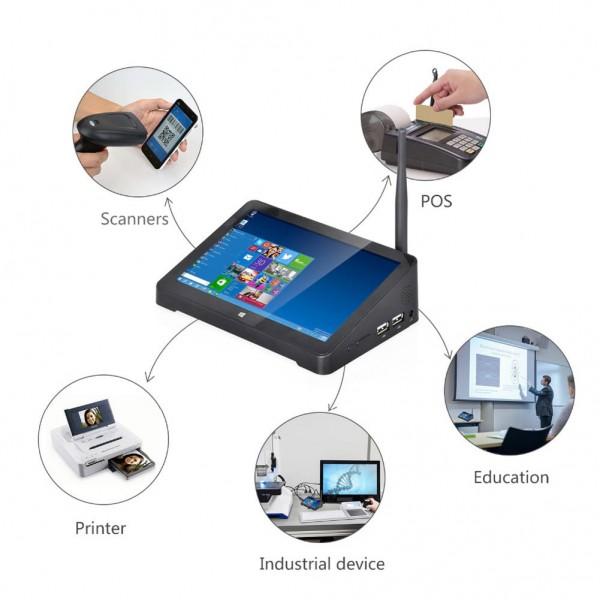 HiDON 7 inch Intel Win10 Wifi RJ45 RS232 HDMI Touch screen Mini PC Fanless Computer